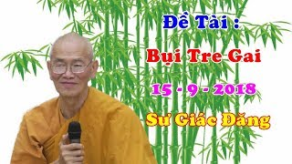 Bụi Tre Gai ... 15 - 9 - 2018 : Sư Giác Đăng