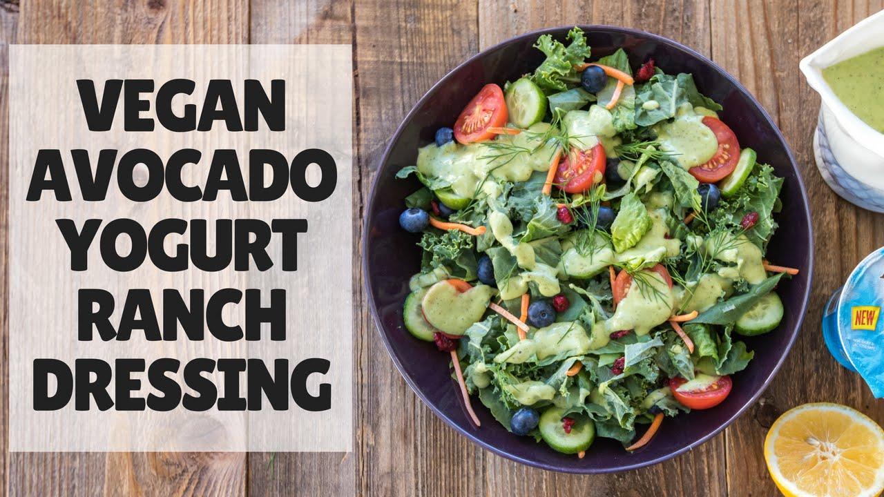 Vegan Avocado Yogurt Ranch Dressing {oil-free}