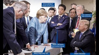Body language expert breaks down famous G7 summit photo