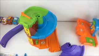 Навчальна іграшка Паркувальна вежа Біп Біп Toot Toot Drivers з 1 машинкою, зі світлом і звук, Vtech,