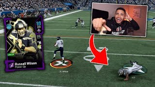 99 OVERALL RUSSELL WILSON MAKES INSANE THROWS!! MADDEN 20