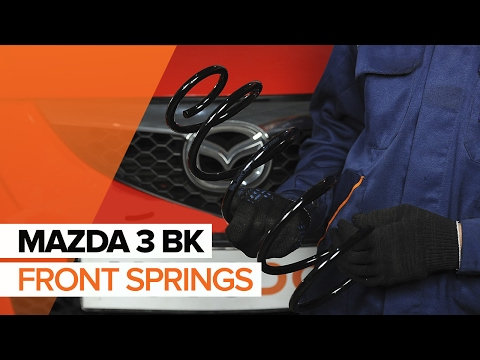 How to replace front springs on MAZDA 3 BK TUTORIAL | AUTODOC