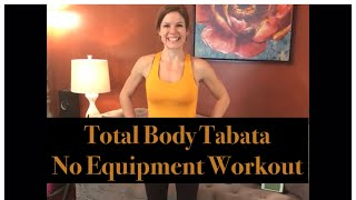 Total Body Bodyweight Tabata Workout: Challenging Home Workout!