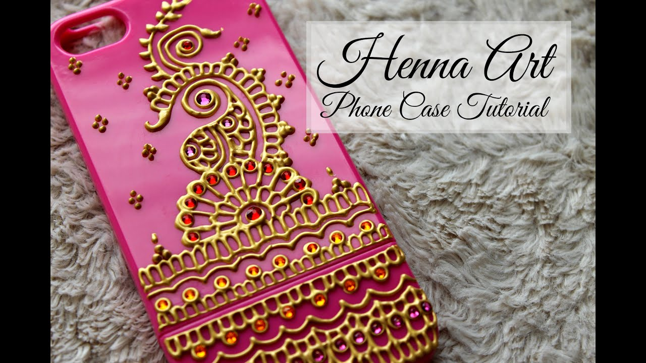 DIY Henna Art Phone Case  Hennafly  YouTube