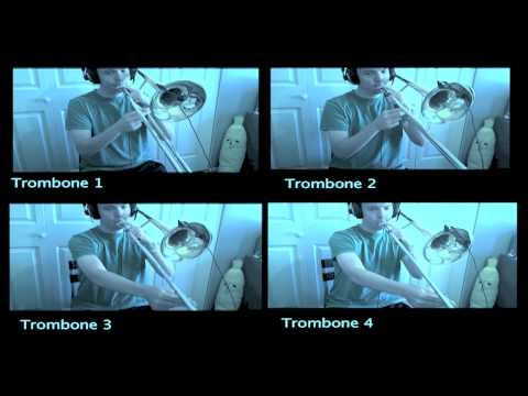 Trombone Player plays Original Nes Mario Bros Theme - Played Very Fast!!!