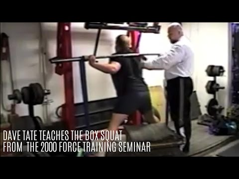 Dave Tate Teaches The Box Squat (2000 Throwback) - Elitefts.com
