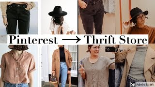 Thrifting My Pinterest Fall Wardrobe || Come Thrift with Me