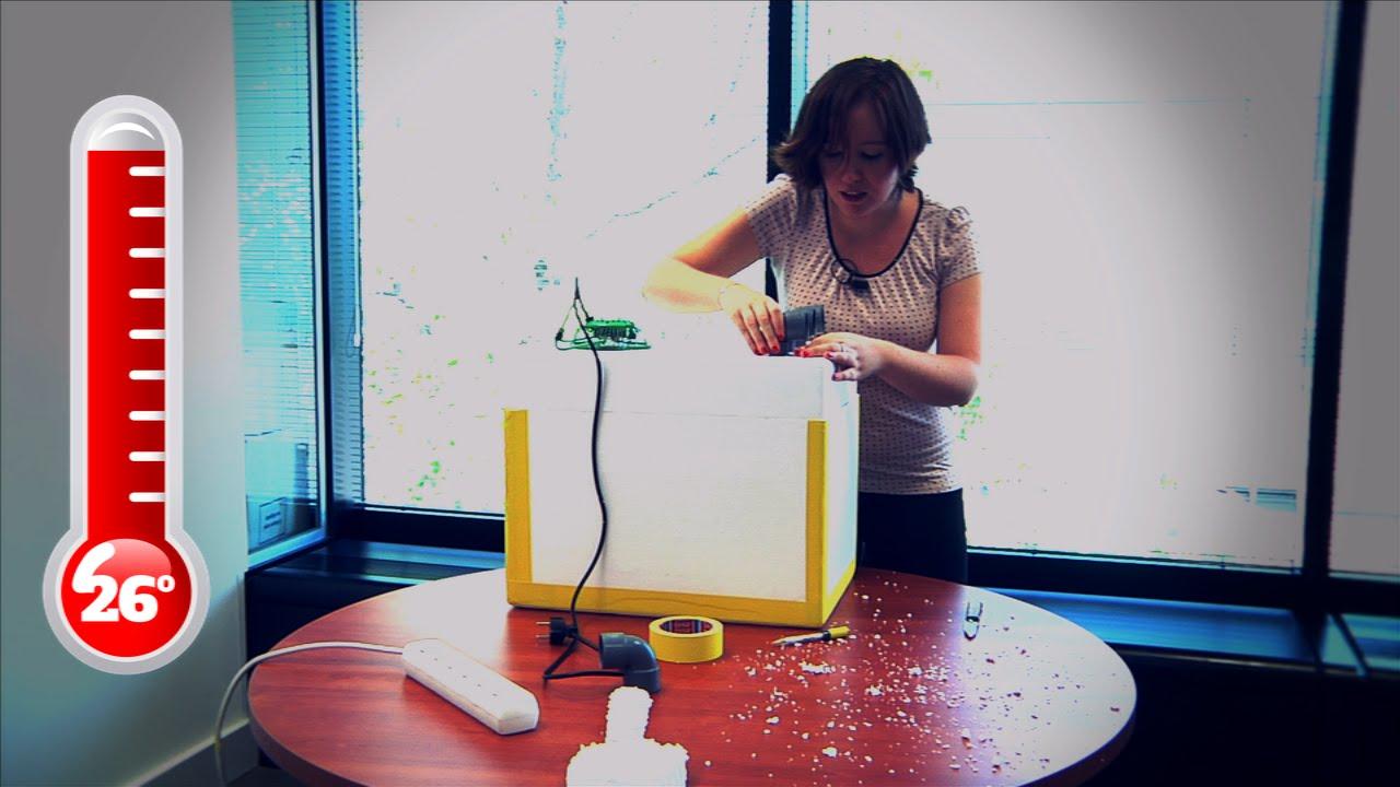 Teknautas pone a prueba un aire acondicionado casero - YouTube