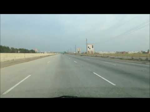 Fast drive to Bakersfield from Santa Clarita, crazy music starts out loud; CA