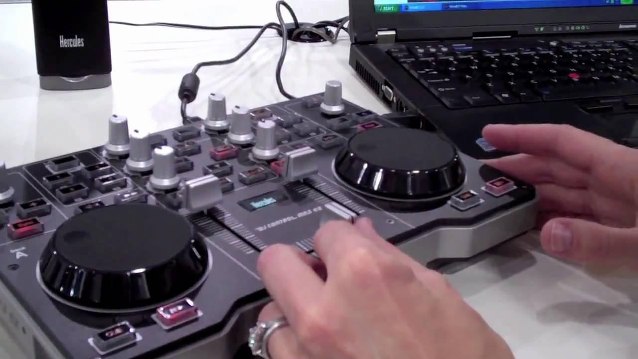 Ces 2010 hercules demos the mp3 e2 usb dj console youtube - Table de mixage hercules dj control mp3 e2 ...