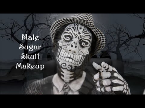 male sugar skull makeup tutorial youtube