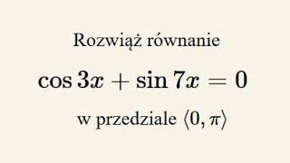 Poziom rozszerzony - rozwiąż równanie trygonometryczne