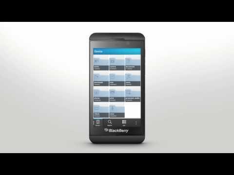 File Manager Blackberry Z10