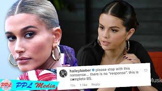 Selena gomez responds to hailey bieber ...