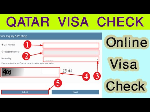 Online Qatar Visa Check 2020