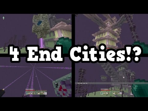 Minecraft Xbox 360 / PS3 - How To Get 4 END CITIES In 1 End