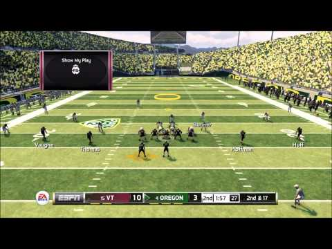 NCAA 13 College Football - Defense Highlights online ranked game Virginia Tech vs Oregon
