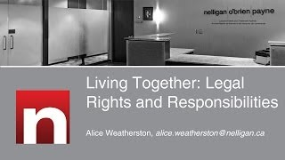 Living Together: Legal Rights and Responsibilities