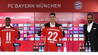 🎙️ Willkommen Marc Roca & Douglas Costa | Vorstellung mit Hasan Salihamidžić | FC Bayern