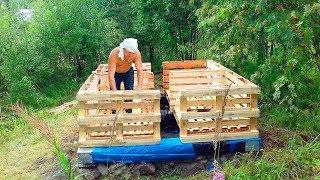 товарищи смеялись когда парень строил КАРКАСНУЮ БАНЮ из ПОДДОНОВ. А сейчас мечтают в ней попариться!
