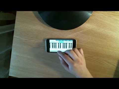 Edward Cullen playing piano on iPhone