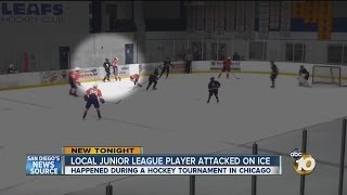 Video shows brutal attack on local junior hockey player
