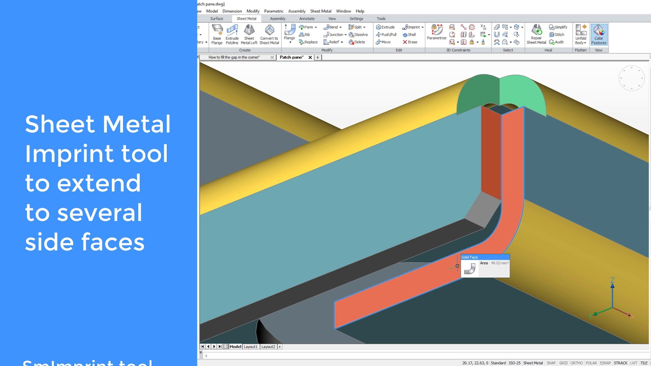 The Gap Within Gap >> Bricscad Sheet Metal How To Fill The Gap In The Corner Youtube
