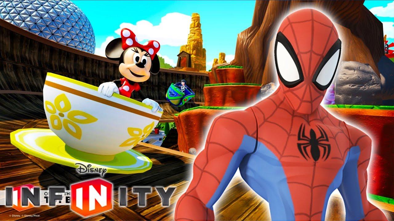 Spiderman voiture de course jeux vid o de dessin anim en fran ais disney infinity 3 0 youtube - Spiderman voiture ...