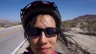 A Chinese girl and a British guy tandem ride across America