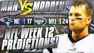 Predicting Every Week 12 NFL Winner.... DO YOU AGREE??? | Man vs Madden 2018