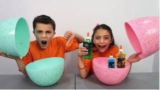 Don't Choose the Wrong Egg Glue Slime Challenge!