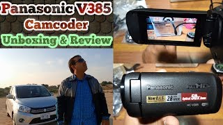 Panasonic V385 Full HD Handicam Unboxing & Review