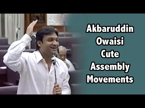 Akbaruddin Owaisi Very Cutest Moments In Assembly