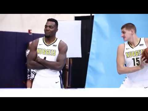 Nikola Jokic goes crazy at Denver Nuggets media day - 25/09/2017