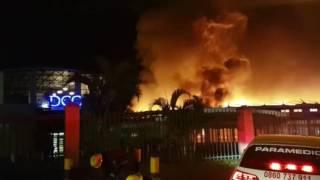 Durban church engulfed in flames