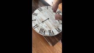 Installing Clock Hands