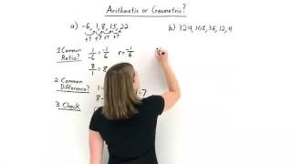 How Do You Determine If A Sequence Is Arithmetic Or Geometric