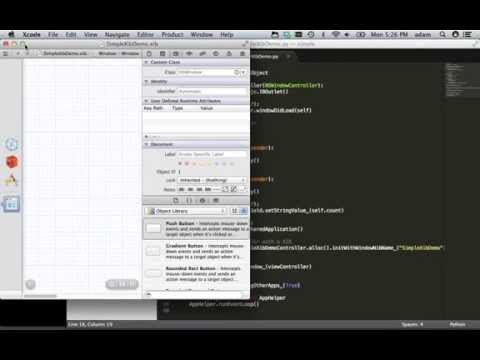Creating a simple OS X App in Python (PyObjC, Cocoa, XIB)