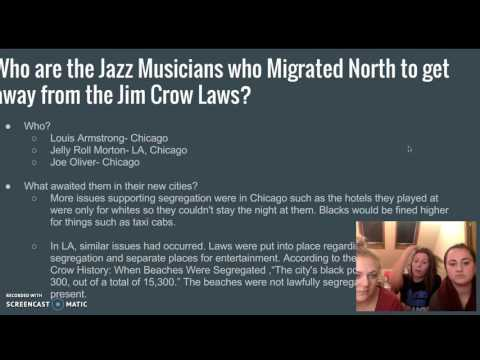 Jim Crow Laws and Jazz