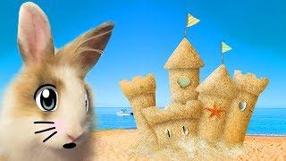 ОГРОМНЫЙ ЗАМОК ИЗ ПЕСКА и Кролик БАФФИ !