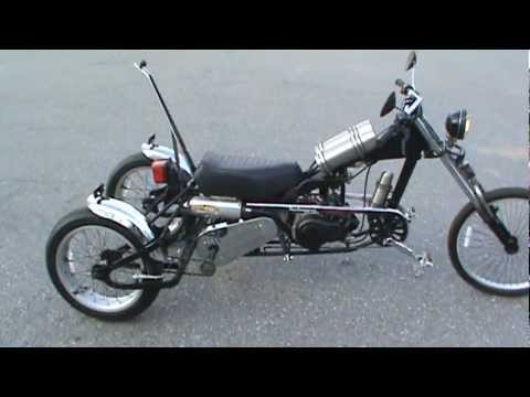 Homemade Moped Trike First Ride Youtube