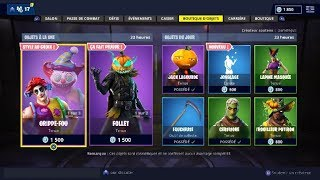 "FORTNITE October 31SCLOWN Skins Shop - ""FOLLET"" - ""JACK LAGOURDE""... !"