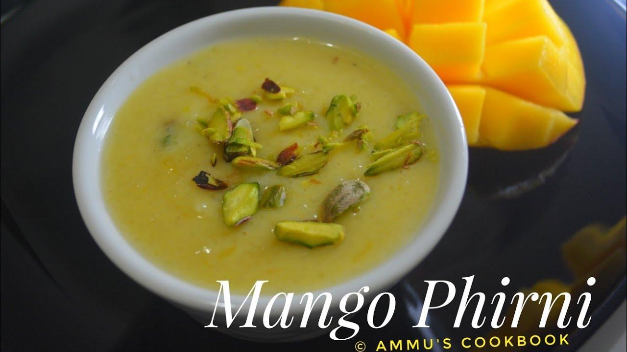 Mango phirni recipe aam ki phirni how to make mango firni