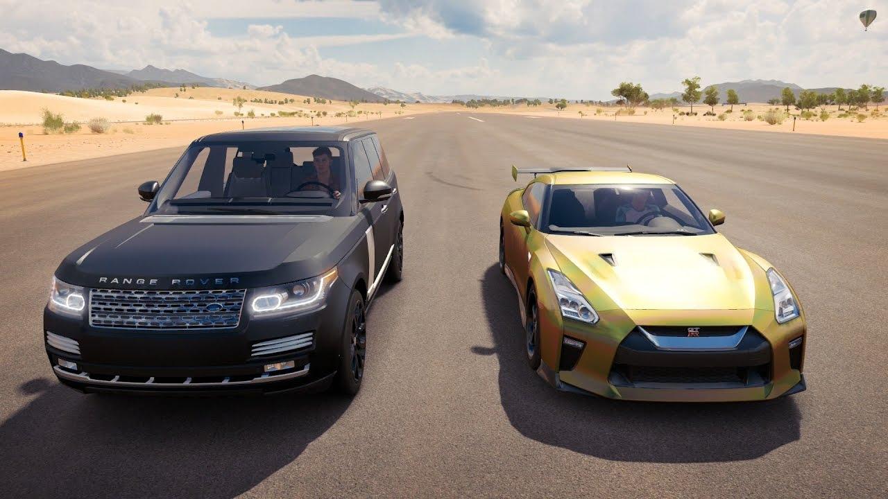 Tanner Fox Nissan Gtr Vs Faze Rug Range Rover Drag Race