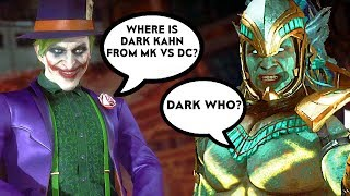 Joker Asks Kotal Kahn Where Dark Kahn From Mortal Kombat Vs DC Is Scene - Mortal Kombat 11