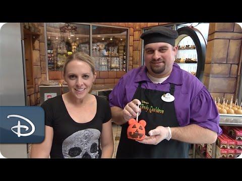 DIY Halloween: How-To Make a Mickey Pumpkin Candy Apple | Disney Parks