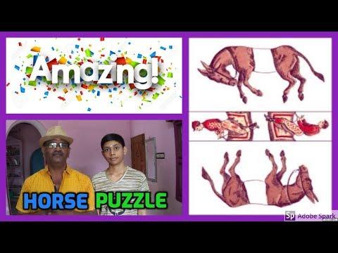 ONLINE TAMIL MAGIC I ONLINE MAGIC TRICKS TAMIL #644 I HORSE PUZZLE I தமிழ் மேஜிக்