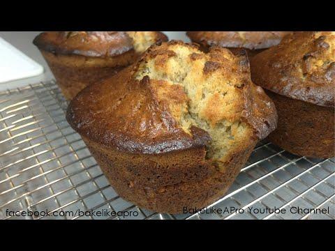 Easy Jumbo Banana Walnut Muffins Recipe