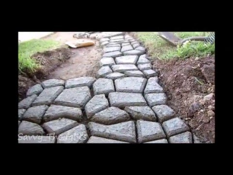Penson U0026 Co Concrete Cobble Stepping Stone Mold   YouTube