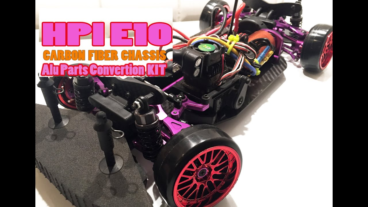 Rc Drift Car Awd Part Hpi Homemade Carbon Chassis